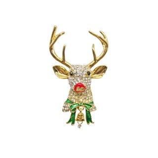 ネイピア・煌くトナカイのクリスマスブローチ
