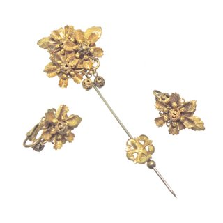 スタンレイハグラー・クラシカルなお花とリーフのスティックピンセット