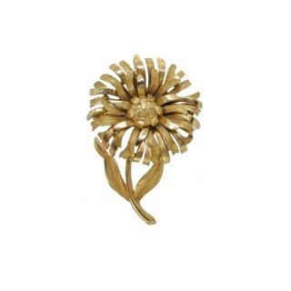 トリファリ・可憐な金色のお花のブローチ