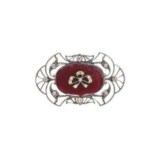 カトリーヌポペスコ・アールヌーボースタイルのエレガントなブローチ