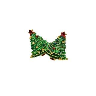 小さなクリスマスツリーのイヤリング