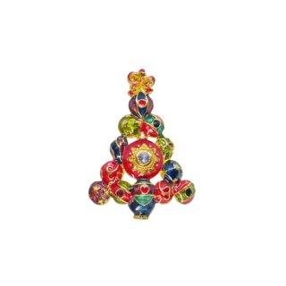 クリストファーラドコ・クリスマスボールで飾られたツリーのブローチ