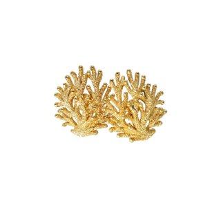 トリファリ・珊瑚のようなテクスチャーの上品なイヤリング