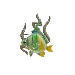 KC・南国の海で泳ぐ熱帯魚のブローチ
