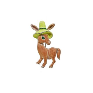 ゲリーズ・帽子をかぶったお洒落なロバのブローチ