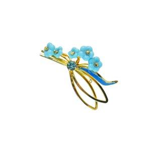 オーストリア・5輪の小さなブルーのお花のブローチ