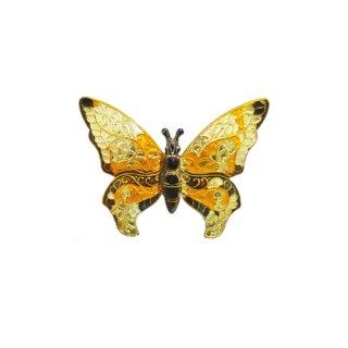 ウエストジャーマニー・シックな色彩の蝶のブローチ