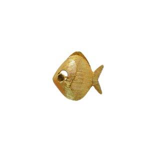 トリファリ・プティサイズの金色のお魚のブローチ