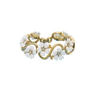 トリファリ・可憐な白いお花のブレスレット