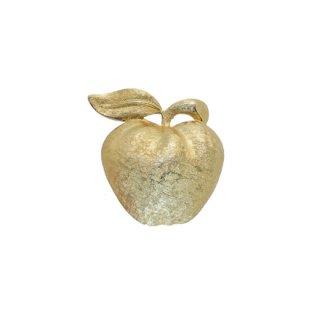 コロ・艶やかな金色の林檎のブローチ