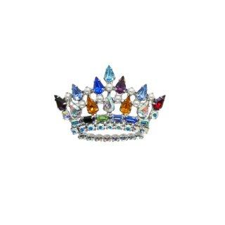 ビーデビッド・ 美しく煌くラインストーンの王冠のブローチ