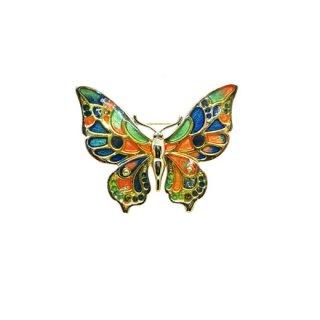 ダンクラフト・金色の縁取りの綺麗な蝶のブローチ