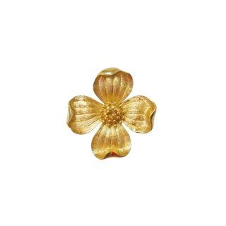 トリファリ・小さな金色ハナミズキのブローチ