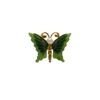 スワボダ・天然石の小さな蝶のブローチ