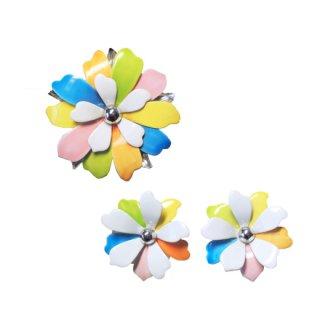サラコヴェントリー・パステル色のお花のブローチセット