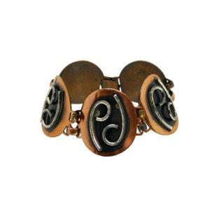 ミッドセンチュリースタイルの銅製ブレスレット
