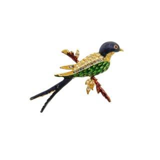 スフィンクス・綺麗な青い小鳥のブローチ