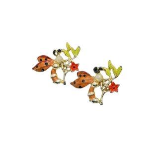 昆虫とお花のミニブローチセット
