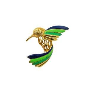 ネイピア・綺麗な色彩のハミングバードのブローチ