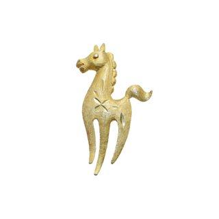 マムゼル・可愛い金色の仔馬のブローチ