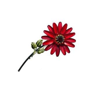 フランソワ(コロ)・モードな赤いお花のブローチ
