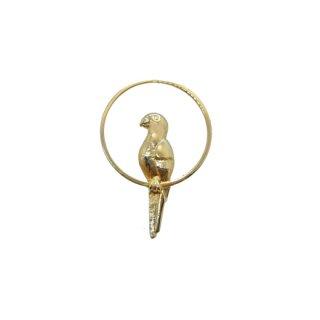 エイボン・小さな金色の鸚鵡のピンバッチ