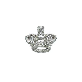 ラインストーンで飾られたプティサイズの王冠のブローチ