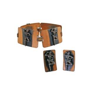 踊る小さなバレリーナの銅製ブレスレットセット
