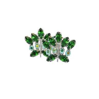 ビーデビッド・ 美しく輝くグリーンラインストーンのイヤリング