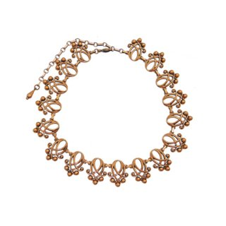 ルノワール・ドットで飾ったモードな銅製のネックレス