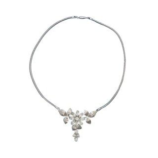 クレメンツ・ラインストーンのお花のスイングスタイルネックレス