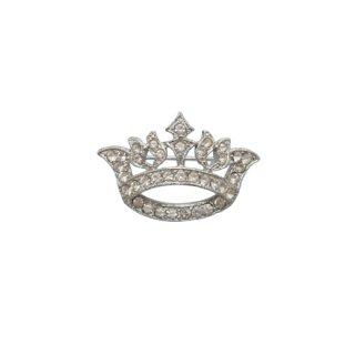 オラ・ラインストーンで飾られた王冠のミニブローチ