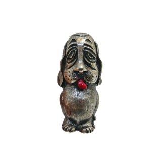 フロレンザ・おじさん顔をしたブサカワな犬のブローチ