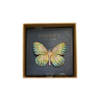 モネ・オリジナルボックス付き煌く蝶のブローチ
