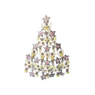 カークスフォリー・星と小さな妖精のクリスマスツリーブローチ