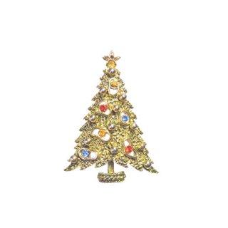 アート・アバンギャルドなクリスマスツリーブローチ