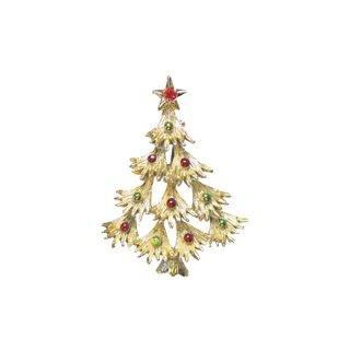 ゲリーズ・ドットで飾ったクリスマスツリーブローチ