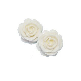 ケネスジェイレーン・華やかな白い薔薇のイヤリング