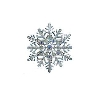 エイボン・煌く雪の結晶のクリスマスブローチ
