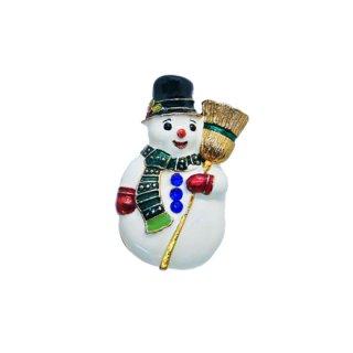クリストファーラドコ・お洒落で可愛い雪だるまのブローチ