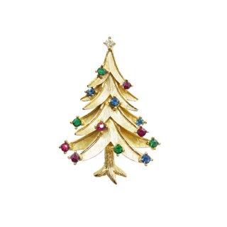 トリファリ・モダンなクリスマスツリーのブローチ