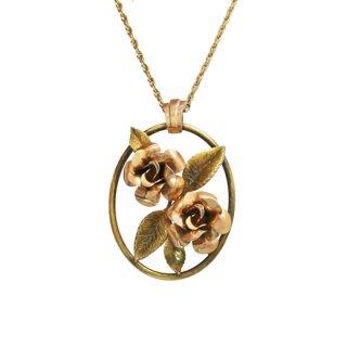 クレメンツ・二輪の可憐な薔薇のネックレス