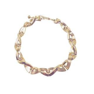 トリファリ・ゴールドカラーのクロス模様ネックレス(特許)