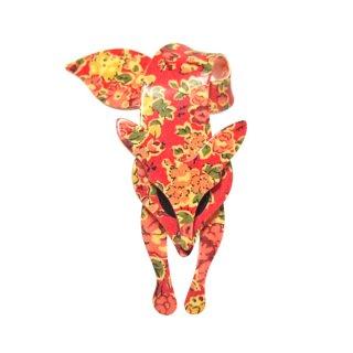 リアスタン・リバティー模様の赤いキツネのブローチ
