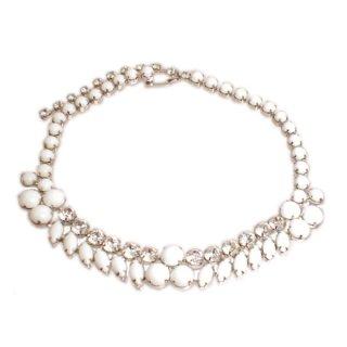 アイゼンバーグ・ミルクガラスのネックレス
