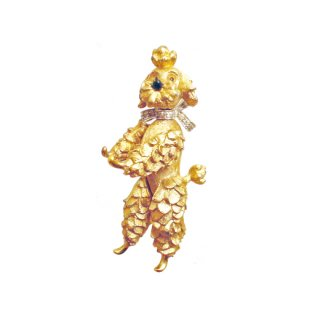 パネッタ・可愛いプードルのブローチ
