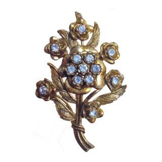 リトルニモ・青いお花のブローチ