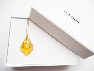 tokoba ピラミッド・ネックレス アンバー菊つなぎ