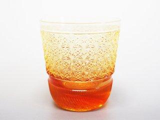 菊つなぎアンバーオールドグラス