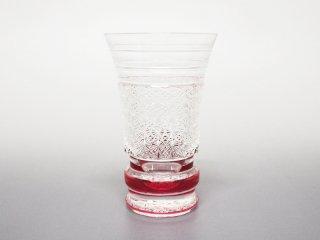 赤一口ビールグラス